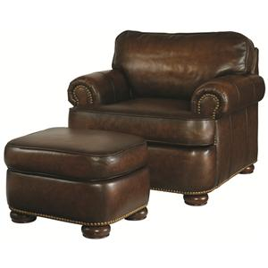 Century PLR-54 Leather Chair and Ottoman