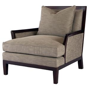 Century Signature Upholstered Accents Exposed Wood Chair
