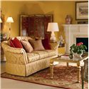 Century Signature Upholstered Accents Traditional Sofa with Skirted Base - Shown in Room Setting