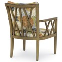 Century Studio Essentials Upholstery Rex Wood-Framed Chair with X Lattice