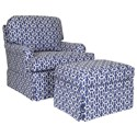 Century Studio Essentials Upholstery Dover Chair & Ottoman Set - Item Number: ESN108-6+12-30271L58