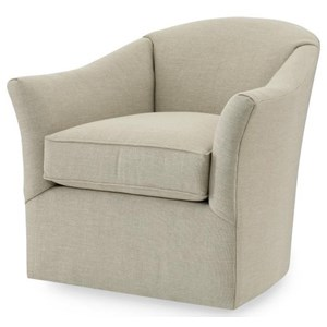 Studio Essentials Upholstery Altos Swivel Chair with Splayed Arms by Century