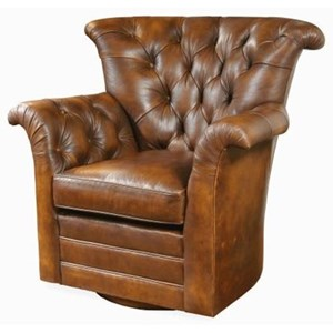 Tufted Back Swivel Chair