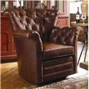 Century Swivel Chairs Century Tufted Back Swivel Chair - Item Number: LR-17157
