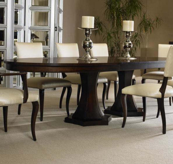 Century Tribeca 339-303 Double Pedestal Dining Table ...