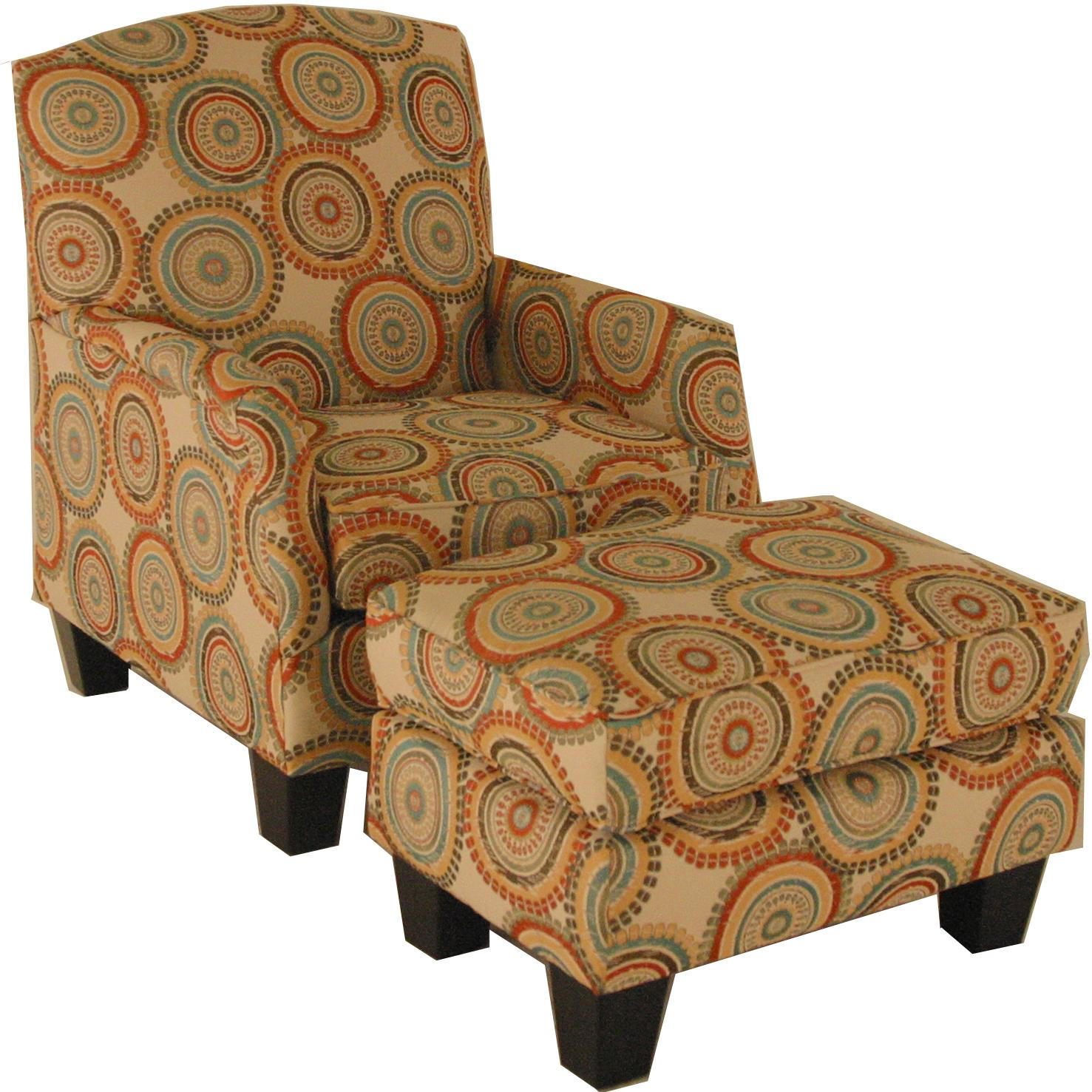 VFM Signature Accent Chairs And Ottomans Transitional Chair And Ottoman Set    Item Number: 1412