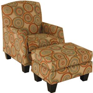 VFM Signature Accent Chairs and Ottomans Transitional Chair and Ottoman Set
