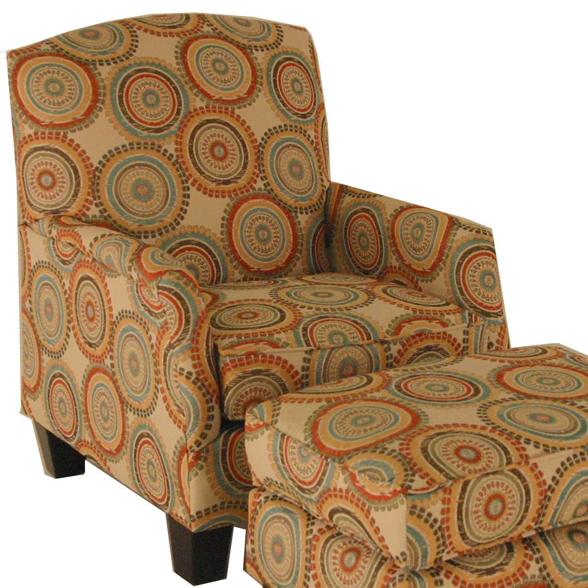 Chairs America Accent Chairs and Ottomans Transitional Chair - Item Number: 1412-IncognitoFiesta