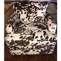 Chairs America Accent Chairs and Ottomans Transitional Swivel Rocker - Item Number: 1424SW Udder Madness Milk