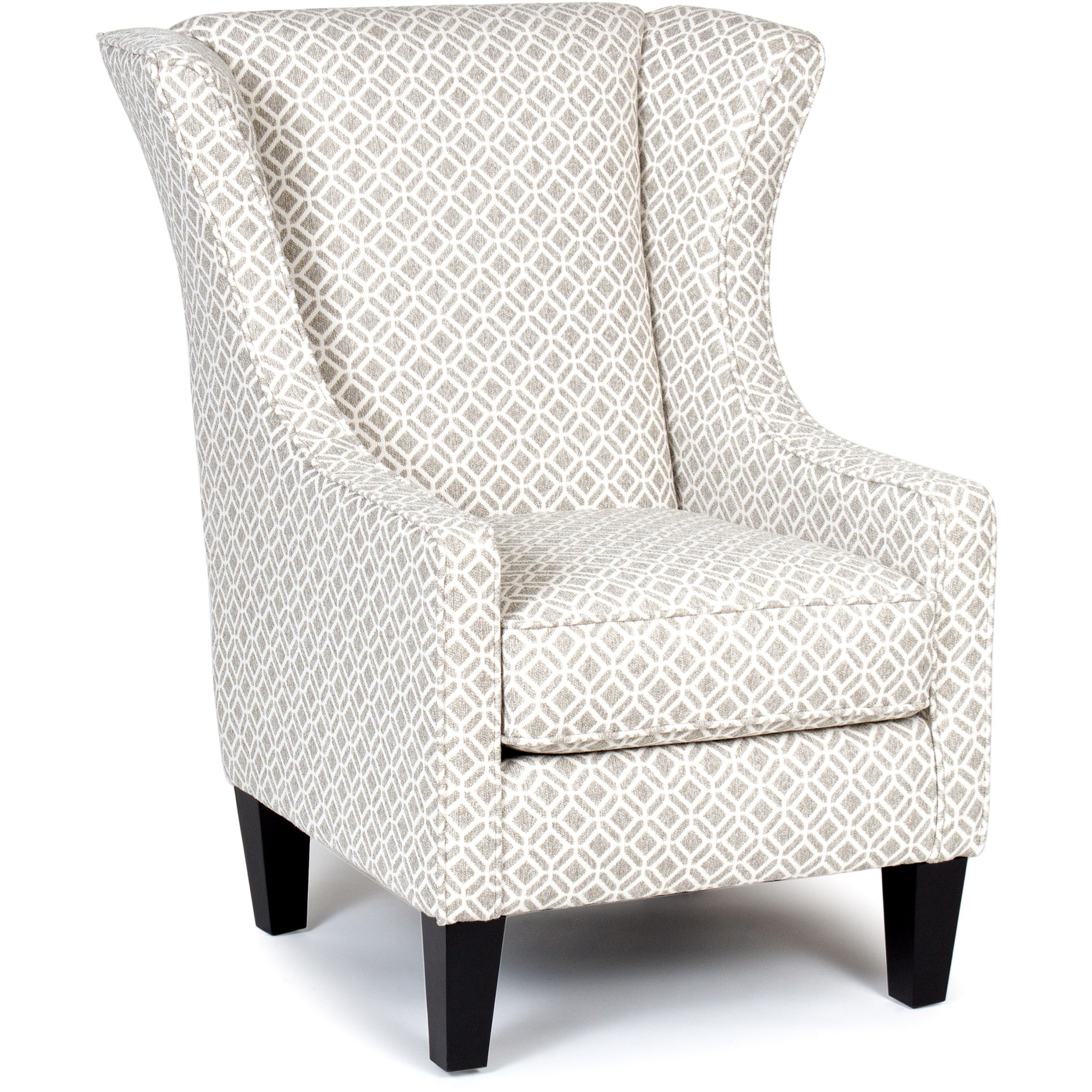 Chairs America Accent Chairs And Ottomans Wing Chair   Item Number:  1460 DelRayLinen