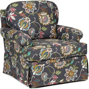 Chairs America Accent Chairs and Ottomans Stationary Skirted Chair