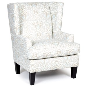 Chairs America Accent Chairs and Ottomans Transitional Wing Chair