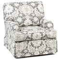 Chairs America Accent Chairs and Ottomans Skirted Swivel Glider Chair - Item Number: 1675SG-Belmont Metal