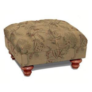 Charles Schneider 1009 Ottoman with Turned Legs