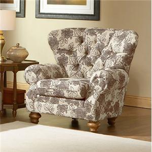 Charles Schneider 1009 Upholstered Tufted Back Chair