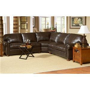 Charmant L76 Three Piece Leather Sectional By Charles Schneider