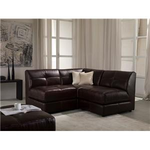 Enjoyable Chateau Dax U745 Leather 3 Piece Modular Sectional Sofa Caraccident5 Cool Chair Designs And Ideas Caraccident5Info