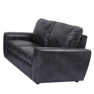 Transitional Loveseat with Contrast Stitching