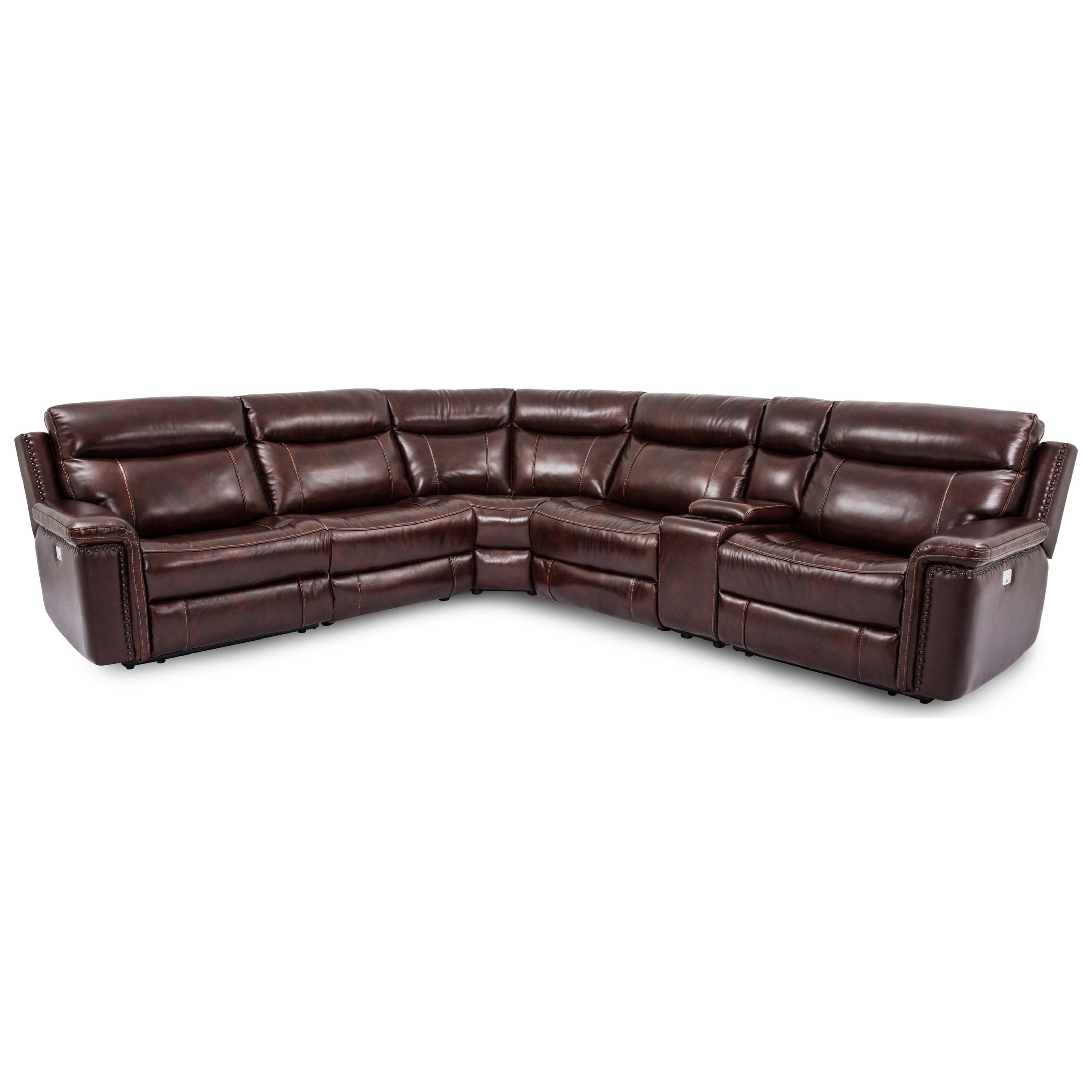 5386 Power Headrest Reclining Sectional by Cheers at Lagniappe Home Store