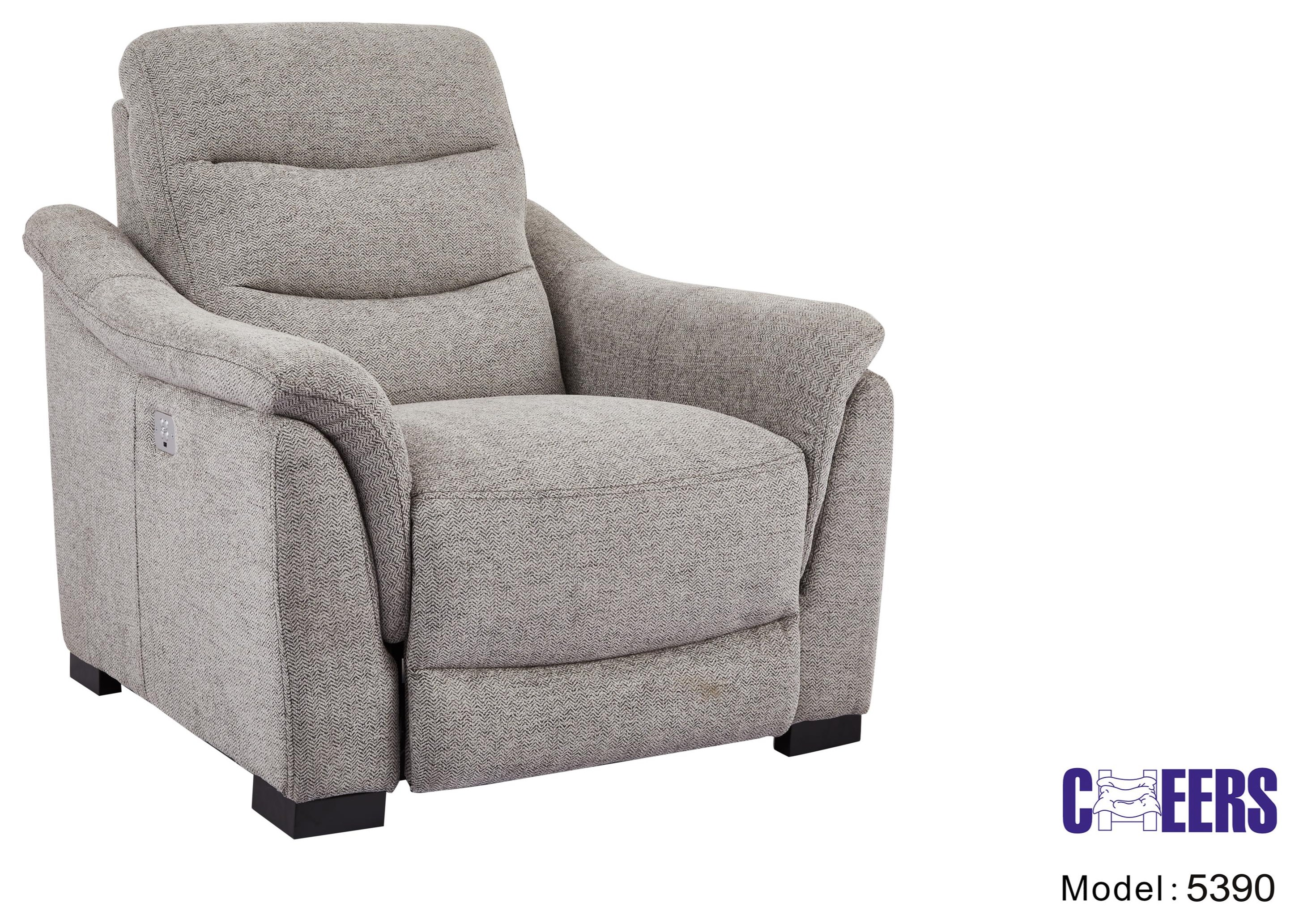 5390 Power Head Recliner by Cheers at Westrich Furniture & Appliances
