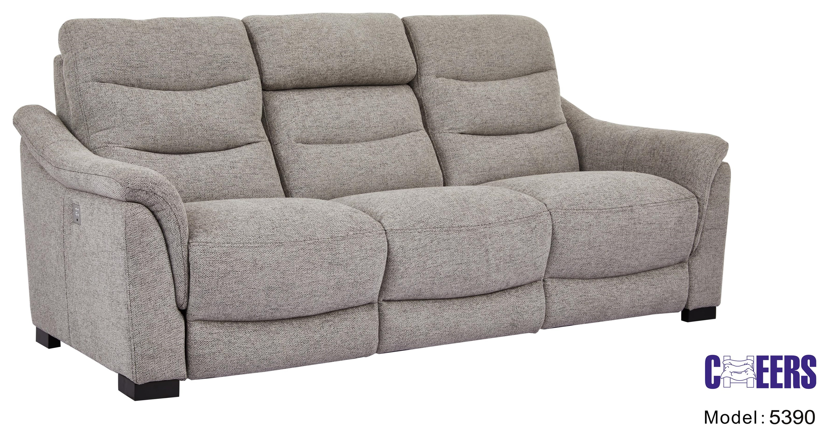 5390 Power Head Sofa w/ Drop Table & Lights by Cheers at Westrich Furniture & Appliances