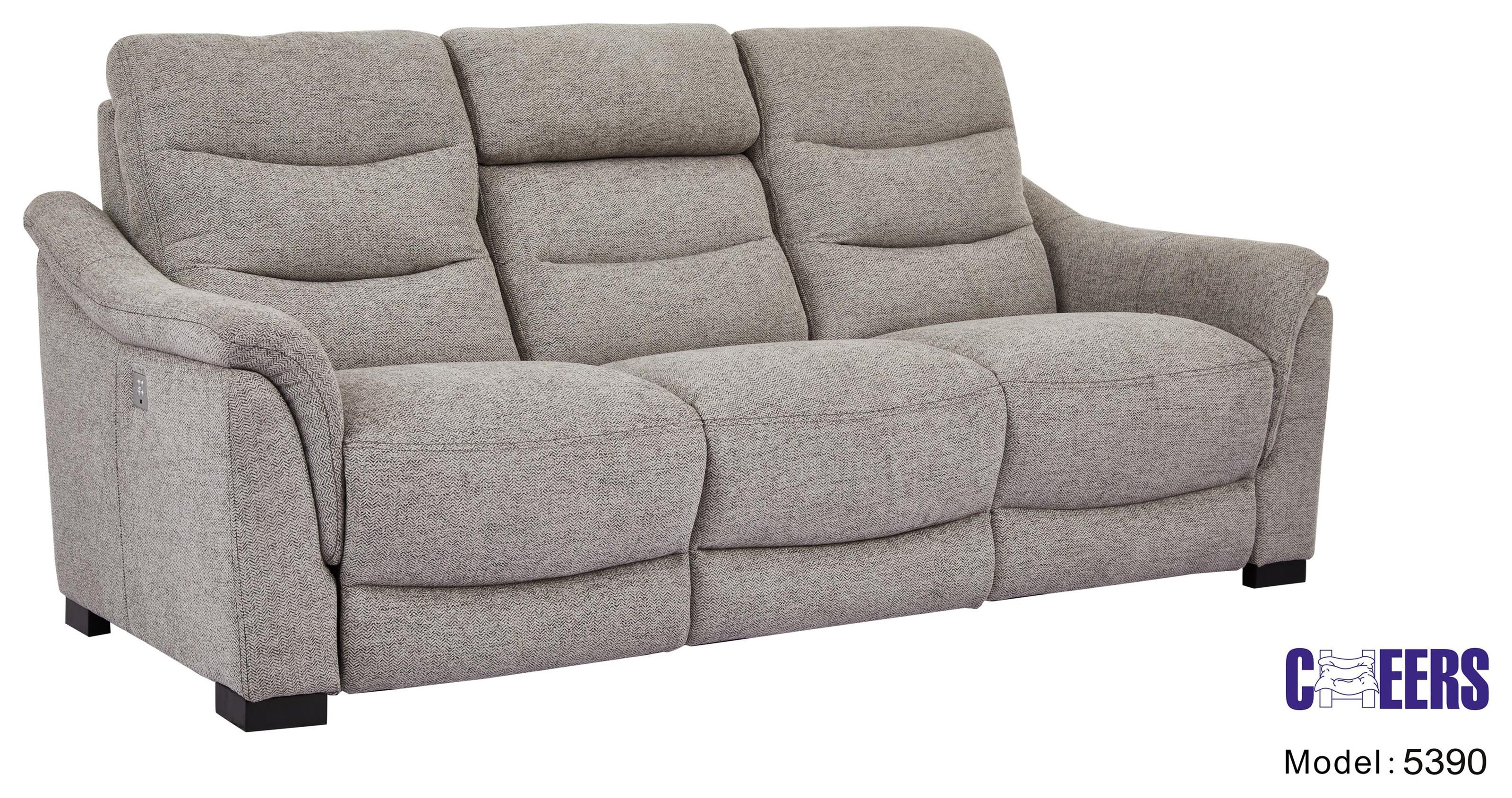 Power Head Sofa w/ Drop Table & Lights