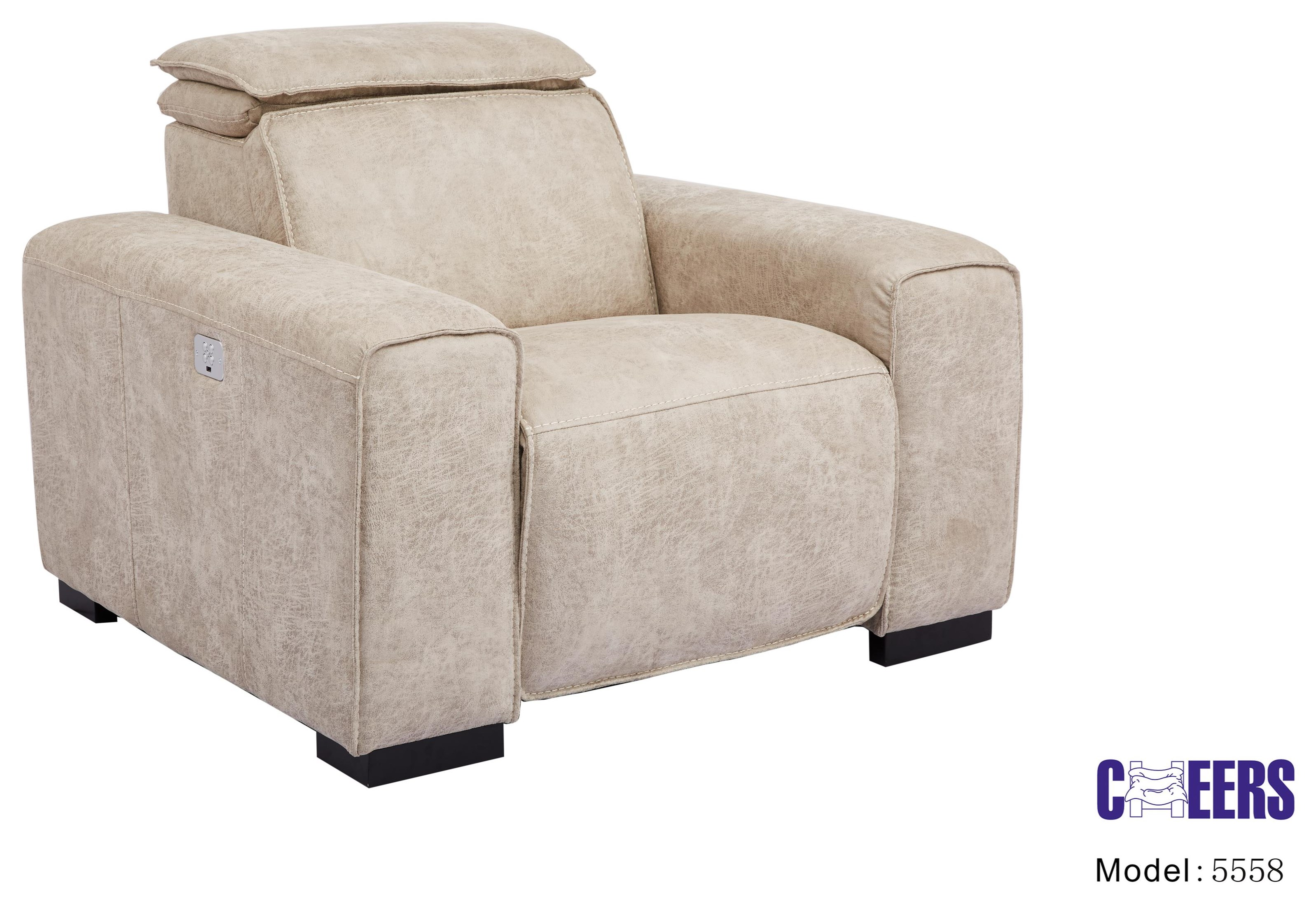 """5558 Power """"Pop Up"""" Head Recliner by Cheers at Westrich Furniture & Appliances"""