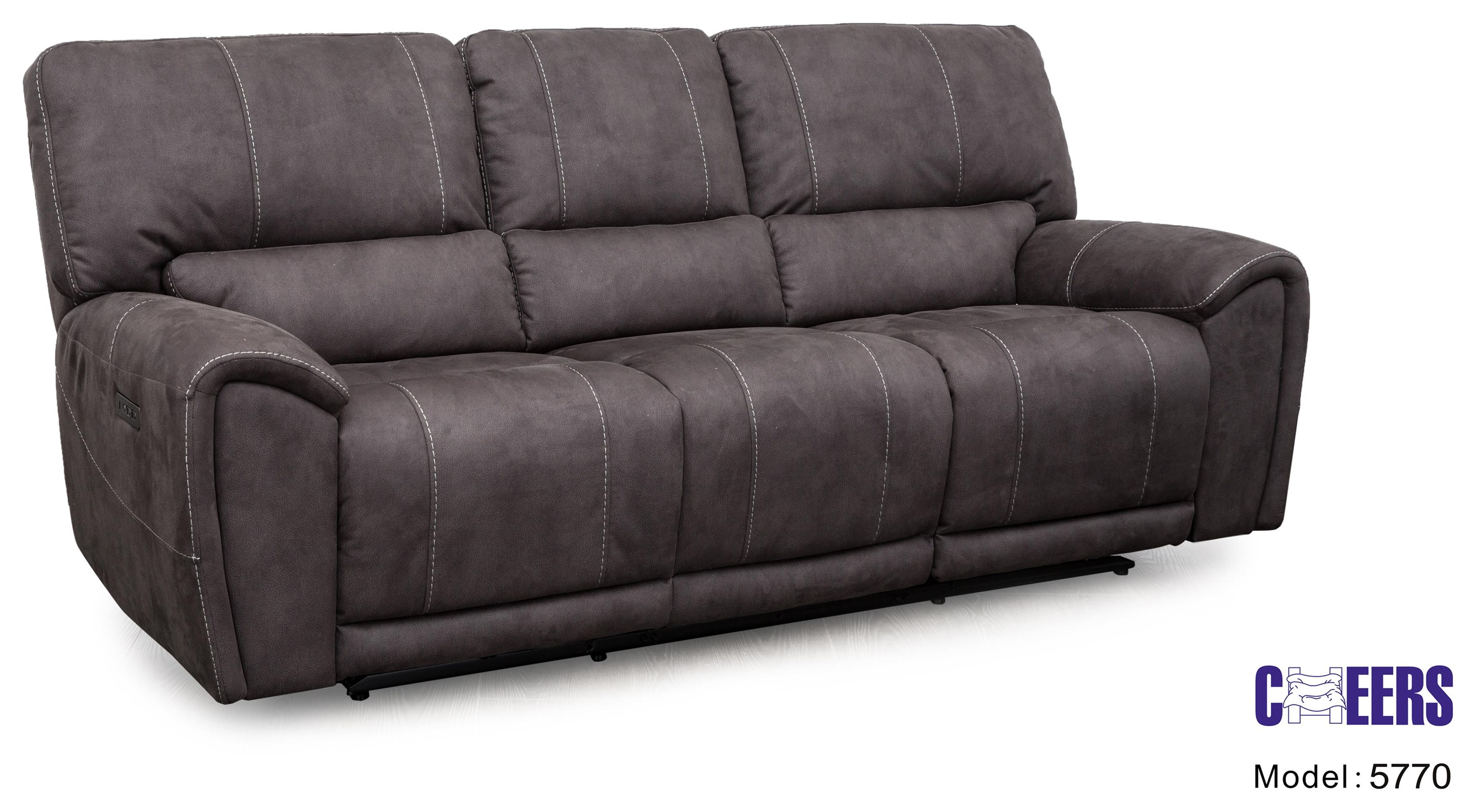 Cheers 5770m Motion Power Reclining Sofa W Power Headrest
