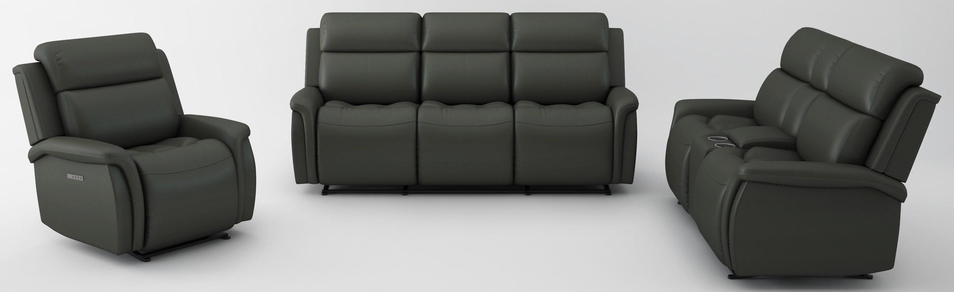 3 PC Power Headrest Living Room Set