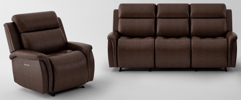 2 PC Power Headrest Living Room Set
