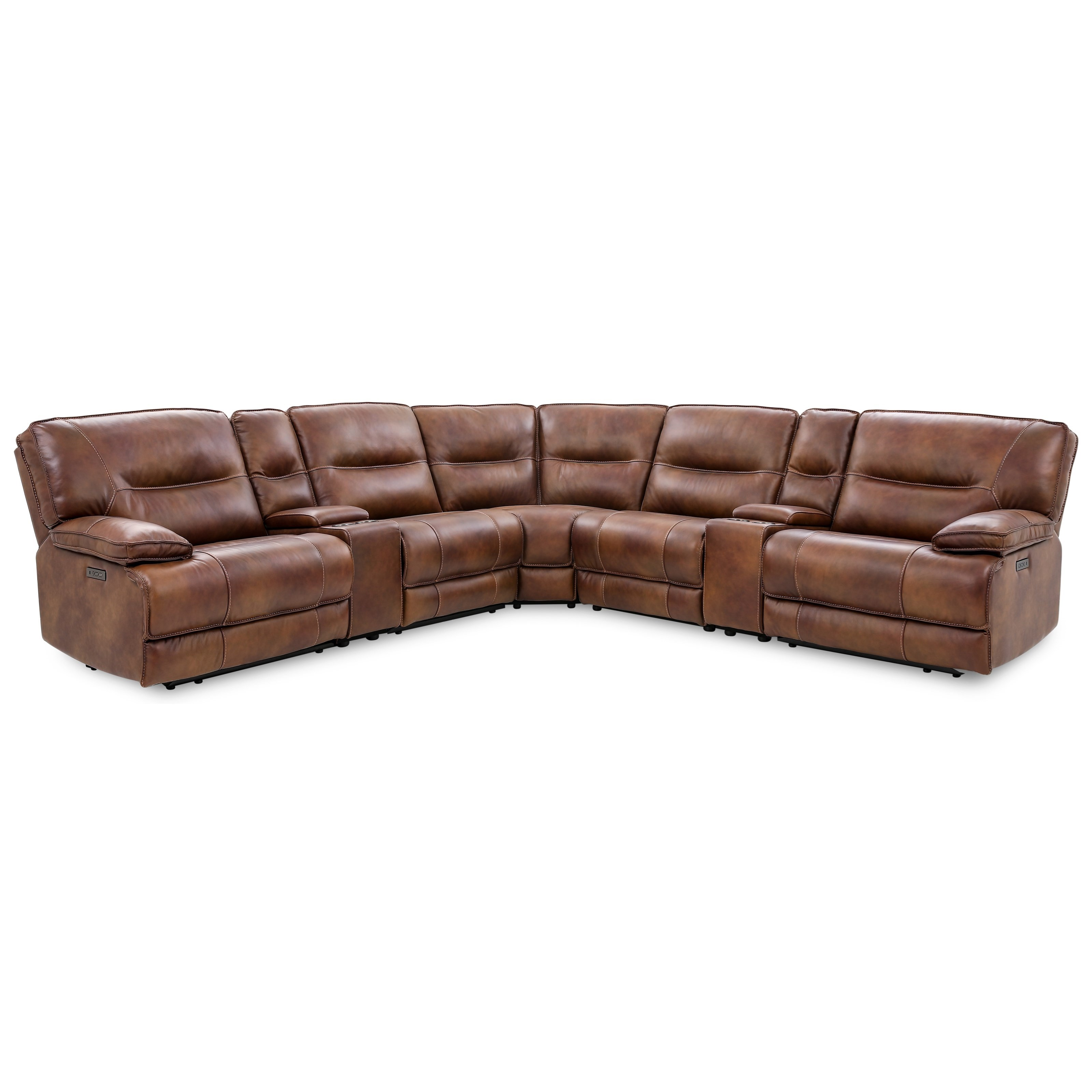 70048 6-Piece Power Reclining Sectional by Cheers at Household Furniture