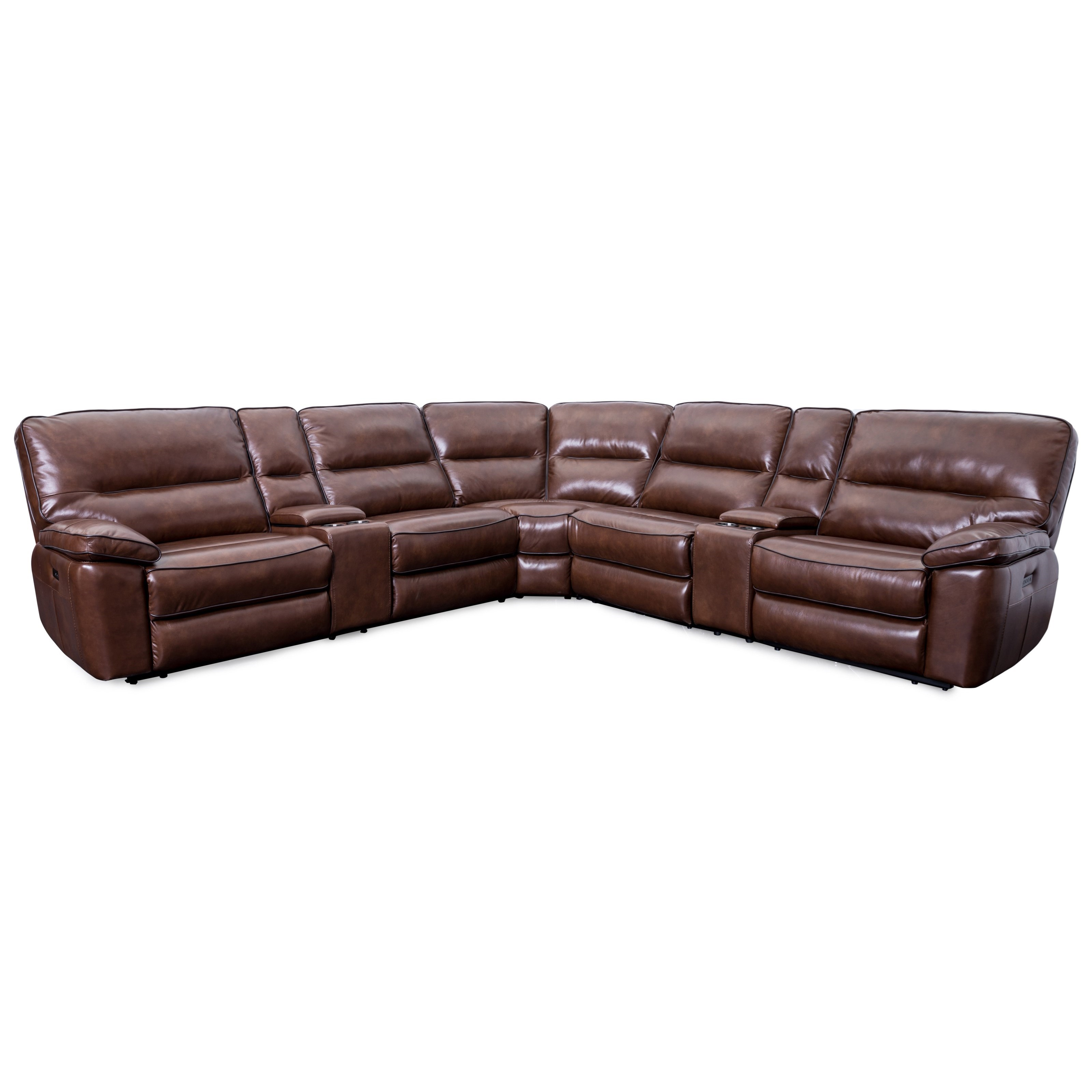 70049 Power Headrests Reclining Sectional by Cheers at Lagniappe Home Store