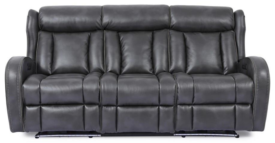 Power Headrest Sofa with Lights and Drop Dow