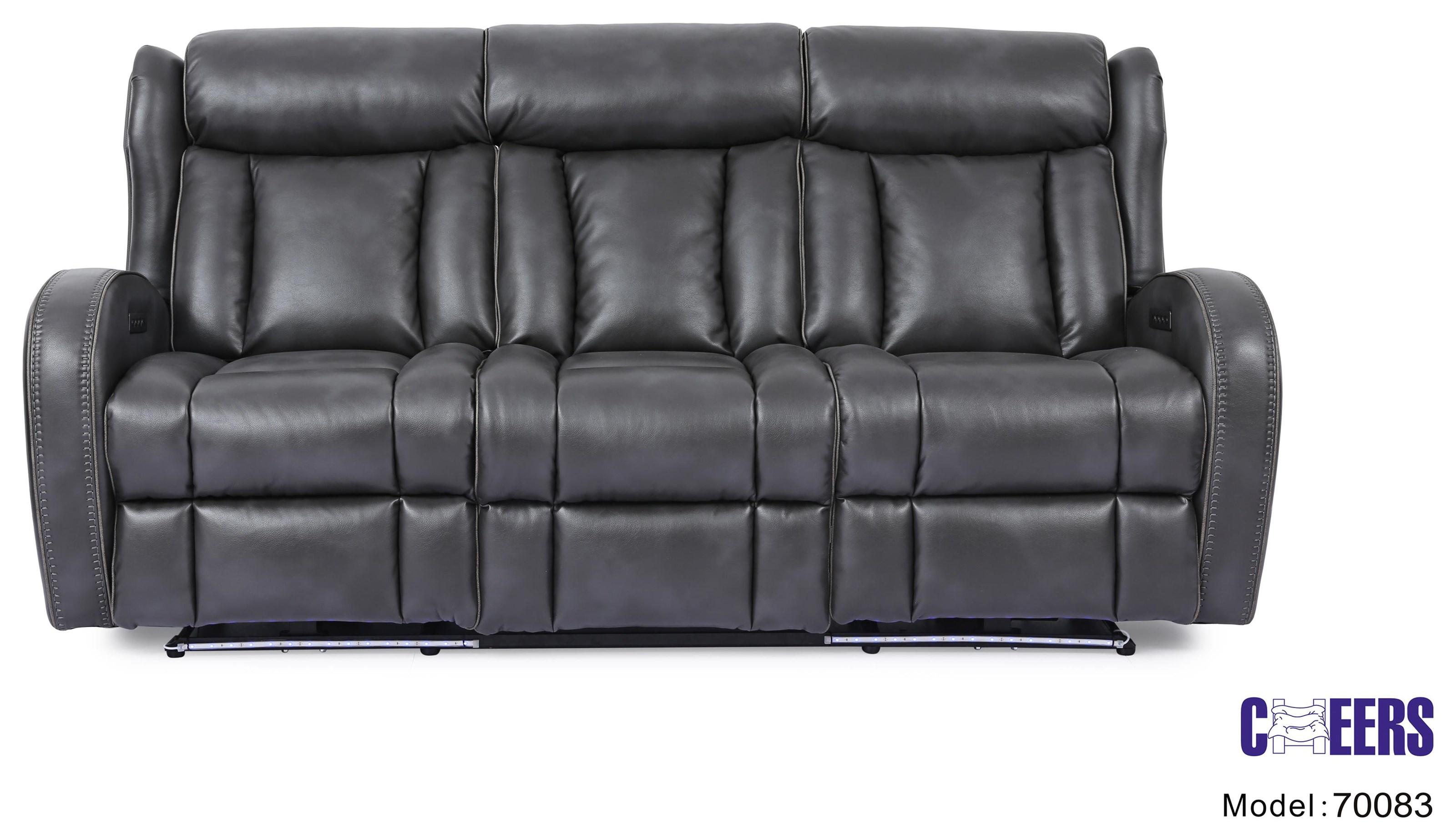 Ent Power Head Sofa w/ Lights