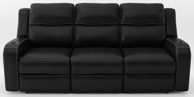 Power Headrest Sofa with Drop Table and Ligh