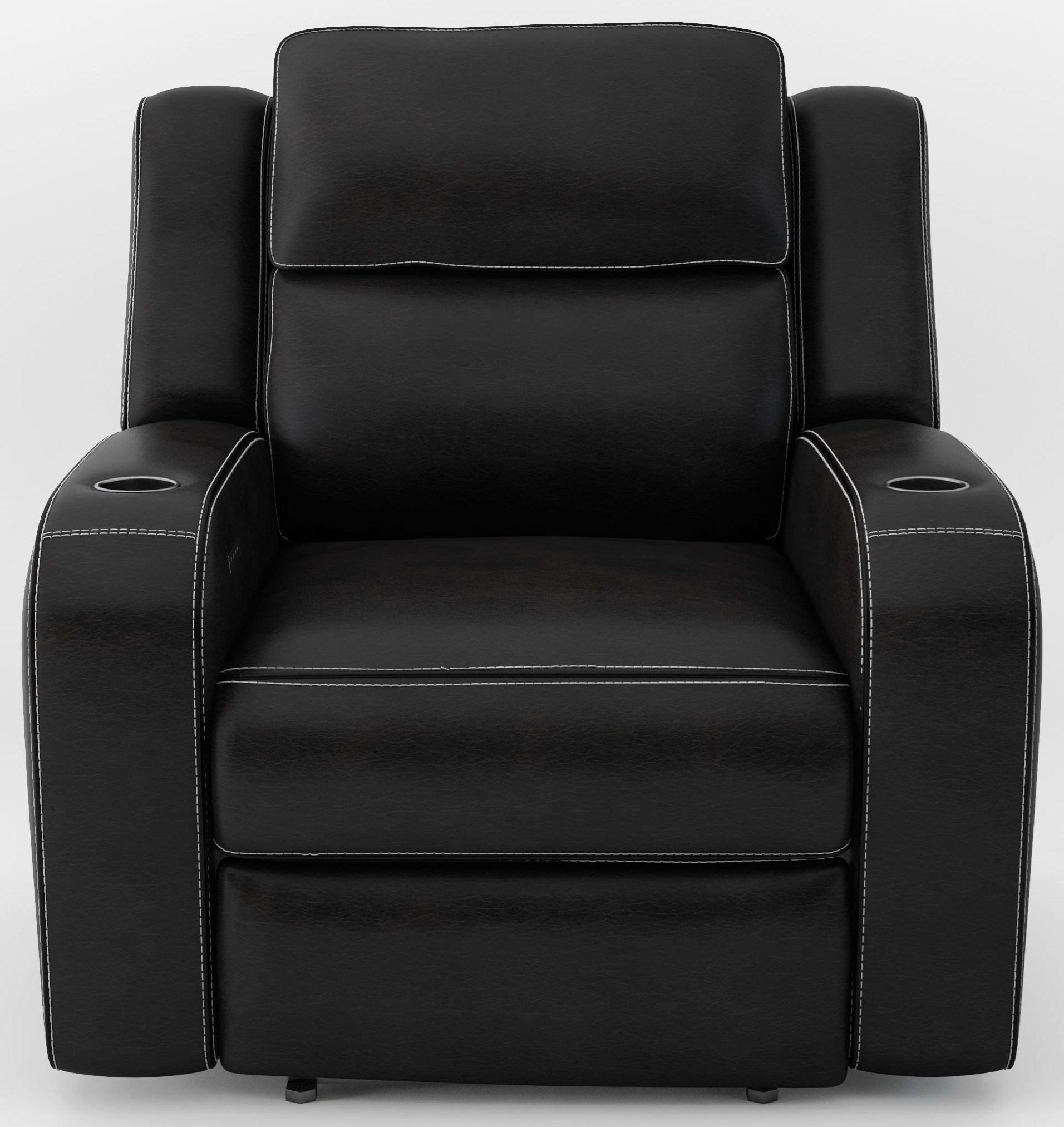 Power Headrest Recliner with Lights