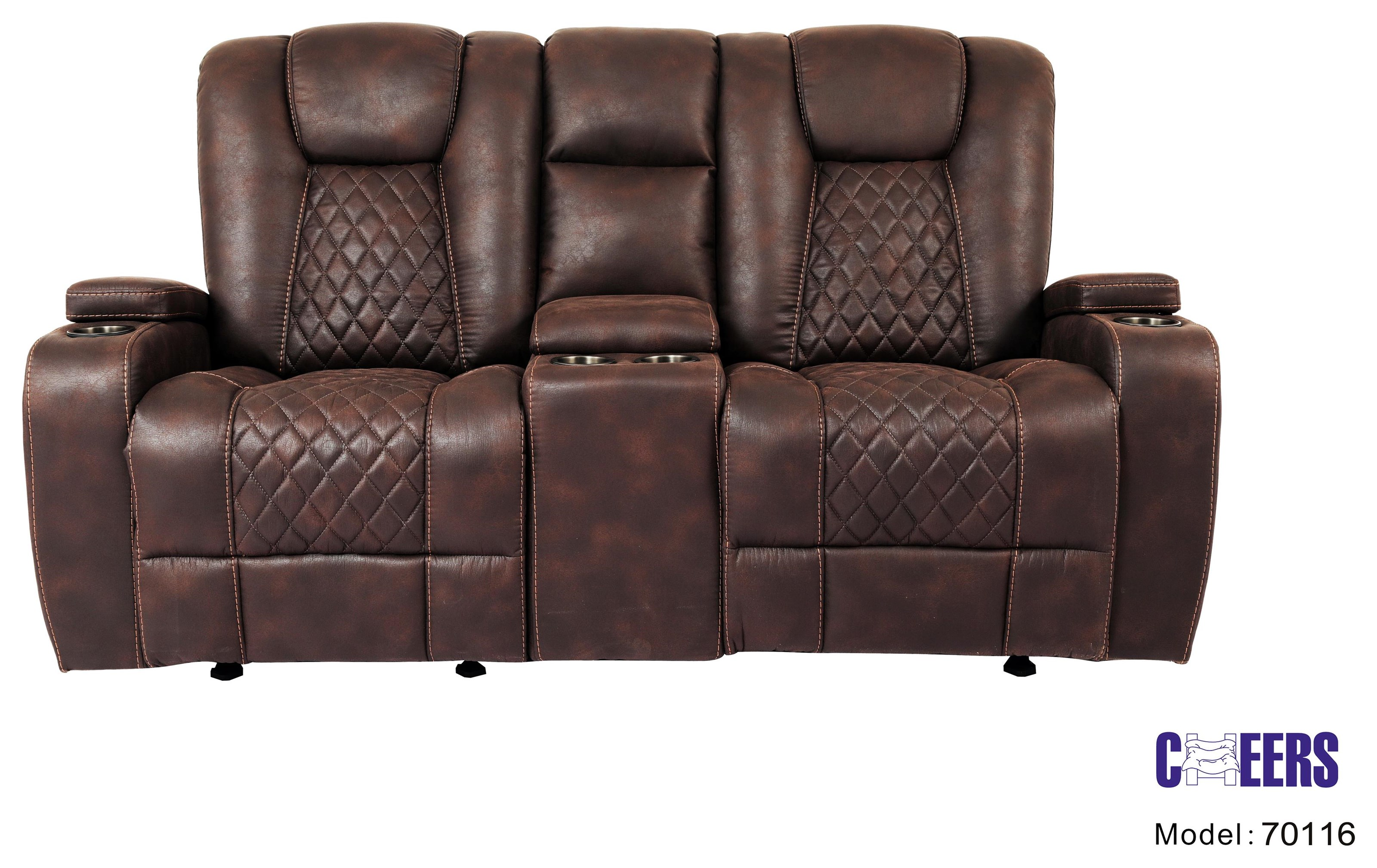 70116 Manual Transformer Glider Console Loveseat by Cheers at Westrich Furniture & Appliances