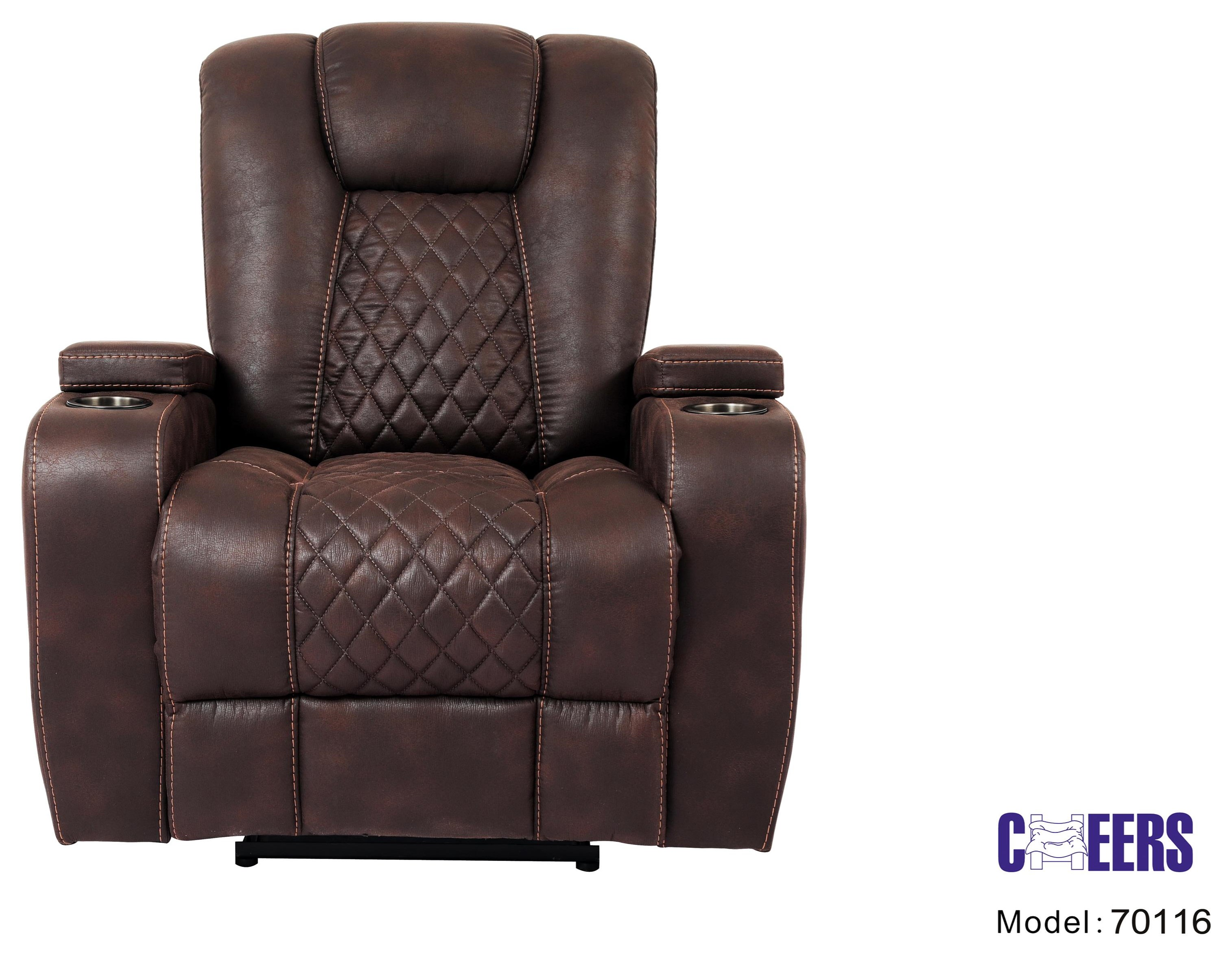 70116 Manual Transformer Recliner by Cheers at Westrich Furniture & Appliances