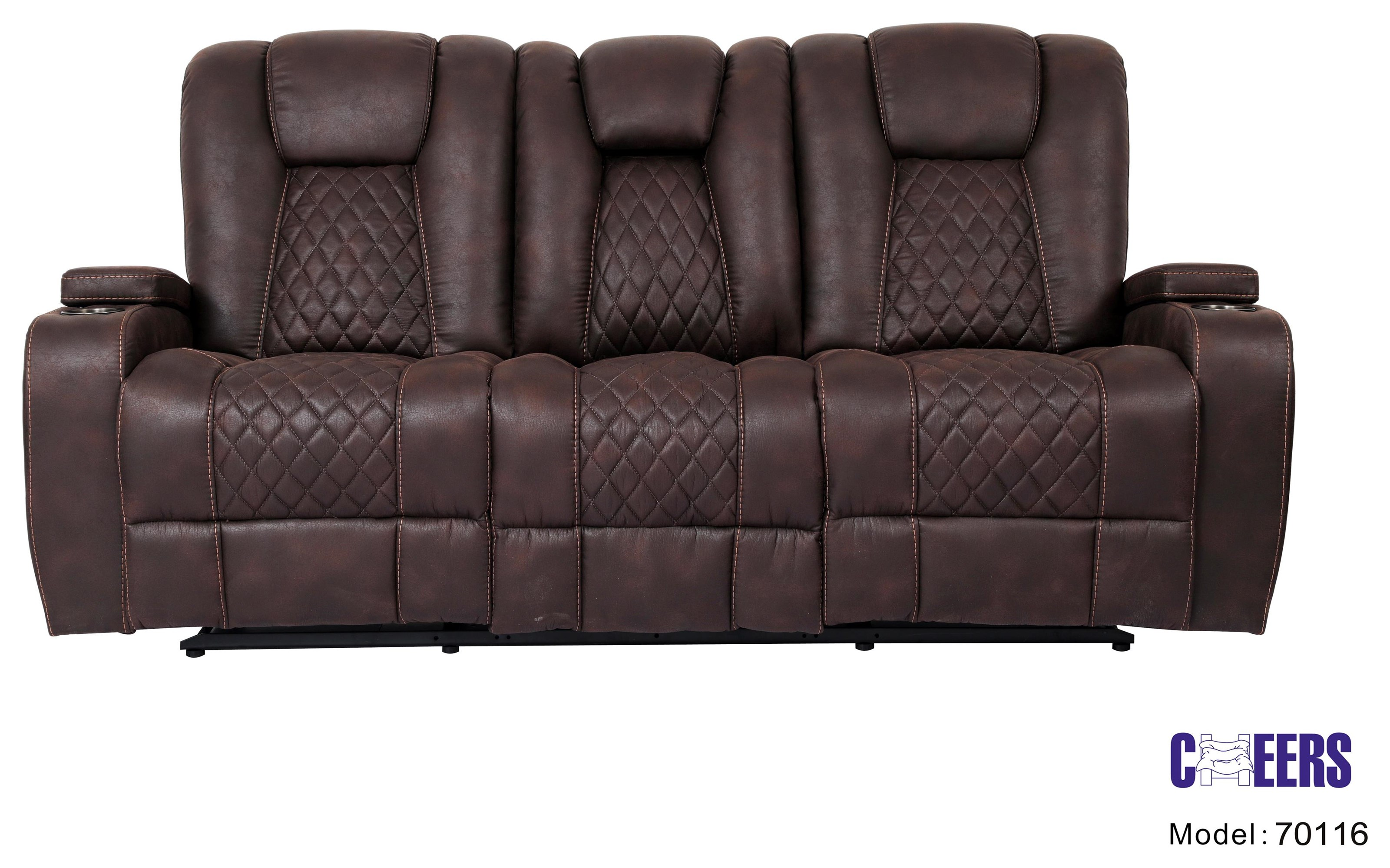 70116 Manual Transformer Reclining Sofa w/ Table by Cheers at Westrich Furniture & Appliances