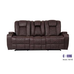 Reclining Sofa w/ Drop Down Table & Lights