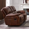 Cheers Martel Power Reclining Console Loveseat - Item Number: 8532-AR1-1EH+AL1+HCE 2041D