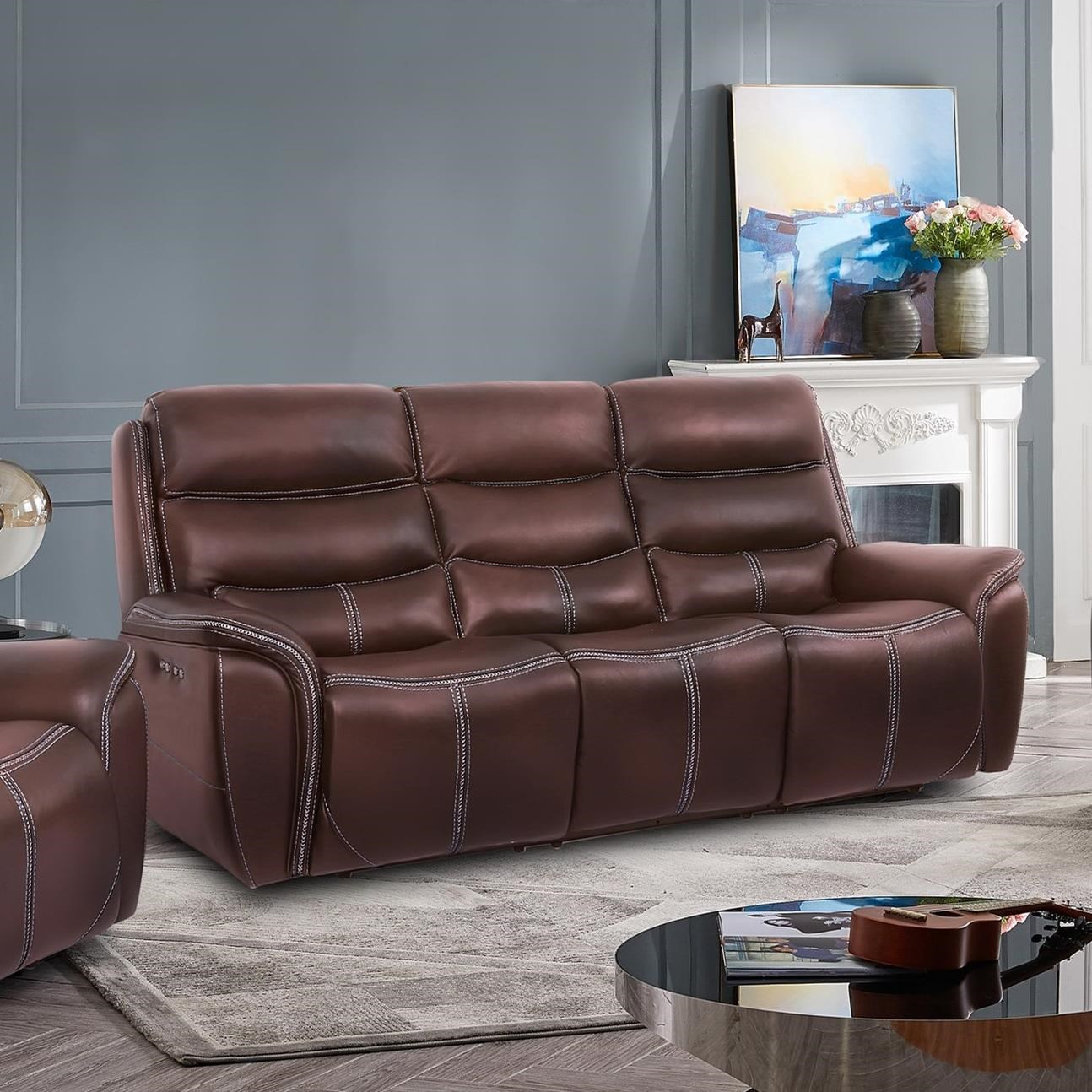 90011 Power Reclining Sofa by MW Classics at Miller Waldrop Furniture and Decor