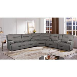 Power Sectional with Power Headrests - Sofa, Console Loveseat and Wedge