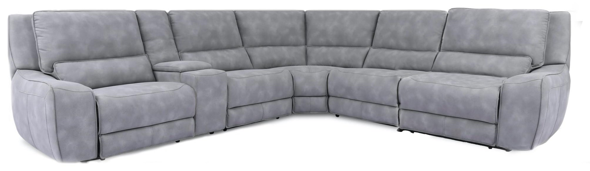 90027 6-Piece Power Reclining Sectional by Cheers at Beck's Furniture