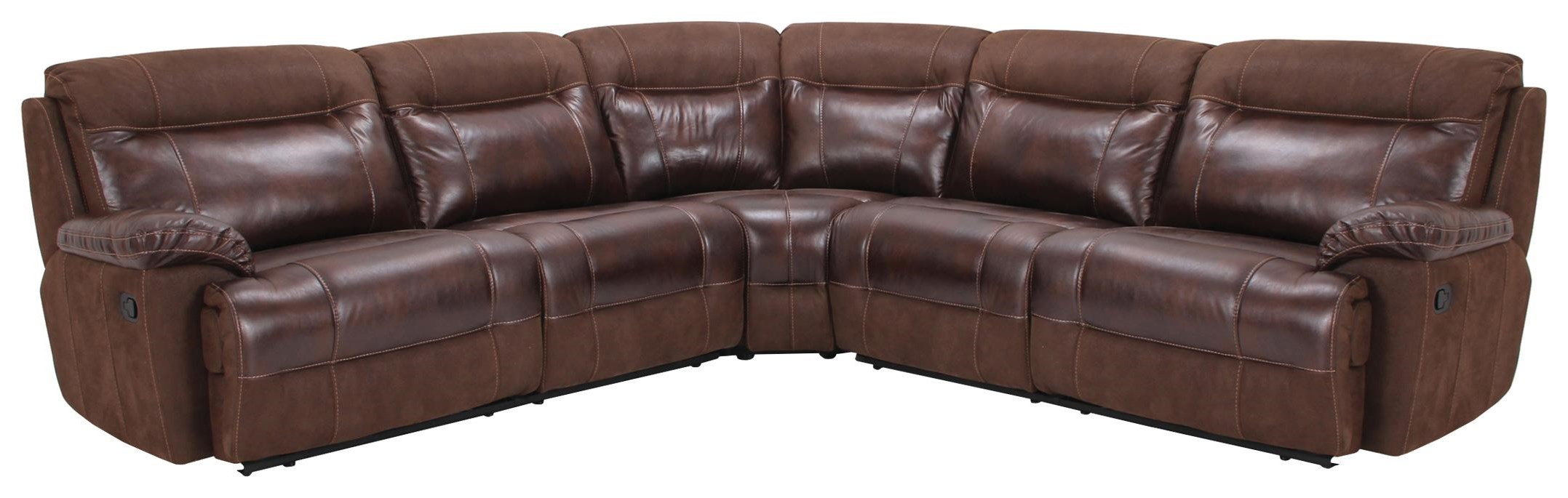 Reclining Sectional at Sadler's Home Furnishings