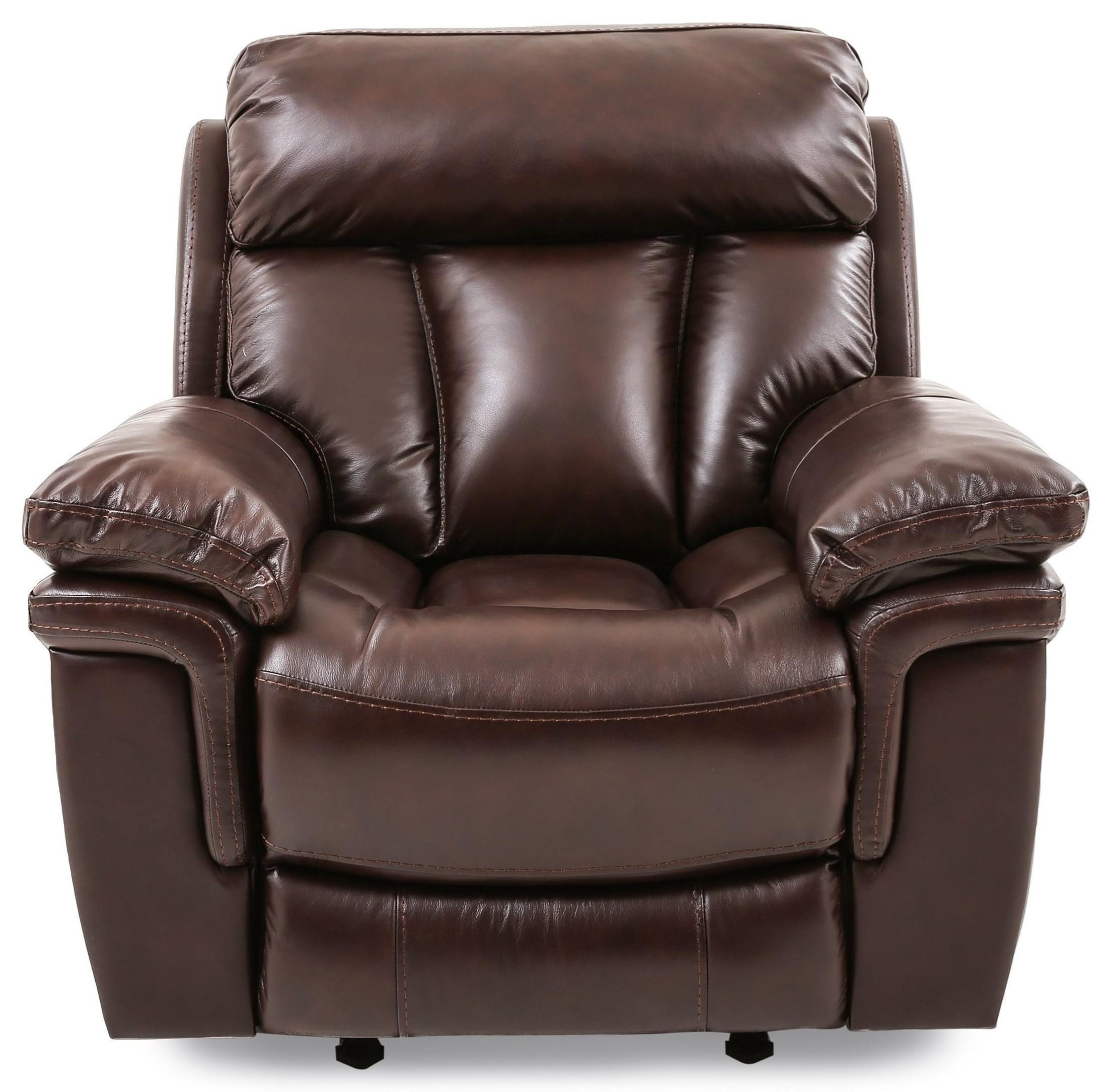 Bryant LEATHER GLIDER RECLINER at Walker's Furniture