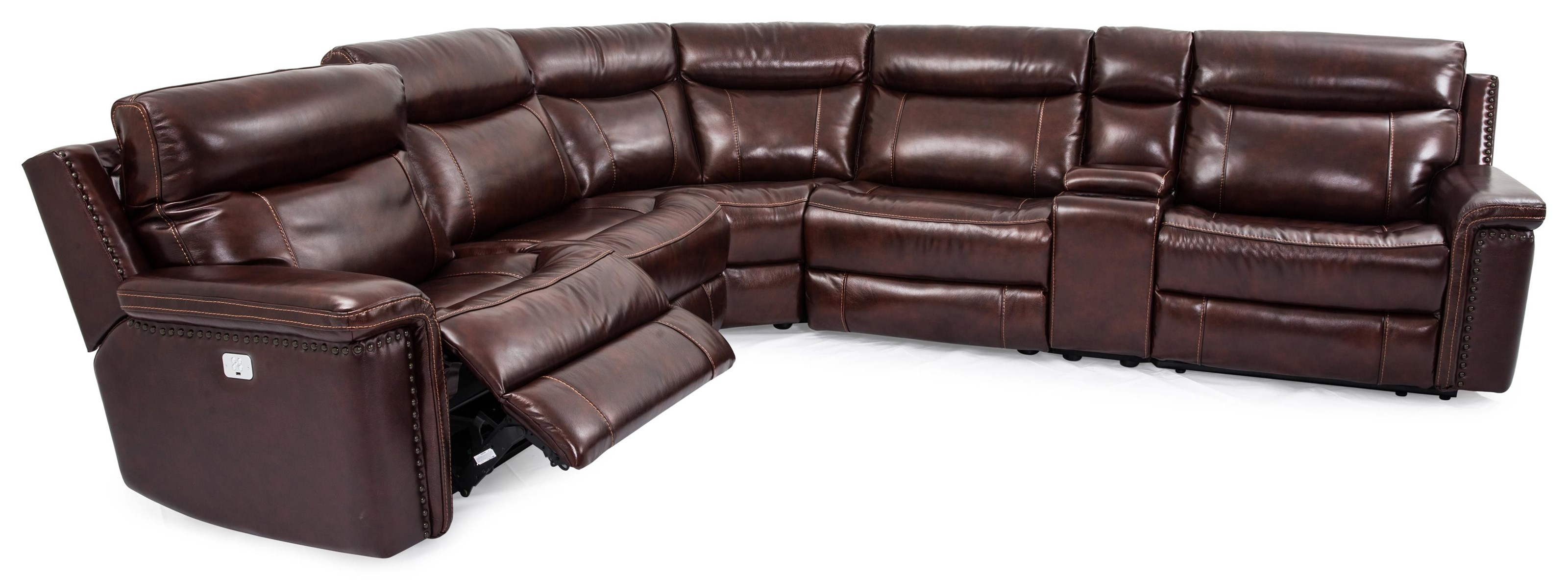 Baxter 6-Piece Leather-Match* PWR Sectional