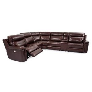 Leather-Match Power Sectional Sofa