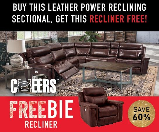 Baxter Baxter Power Sectional with Freebie! at Morris Home