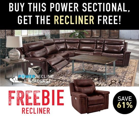 Baxter Sectional with Freebie!